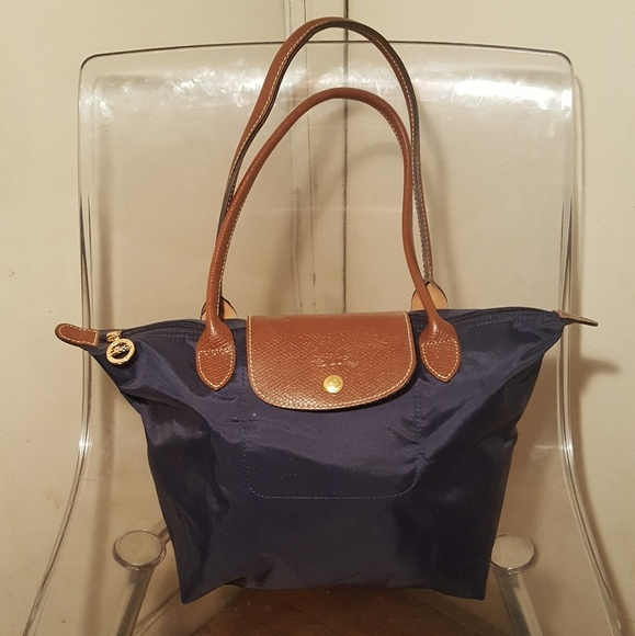 Longchamp Handbags - La Pliage Medium Tote Navy Blue Authentic cf124d8d70